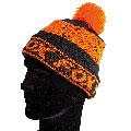 Czapka zimowa Fox Black & Orange Lined Bobble
