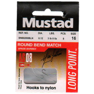 Przypony Mustad Long Point 60200BLN Round Bend Match